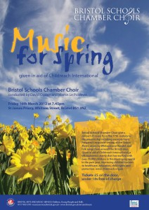 Bristol Schools Chamber Choir concert - Music for Spring